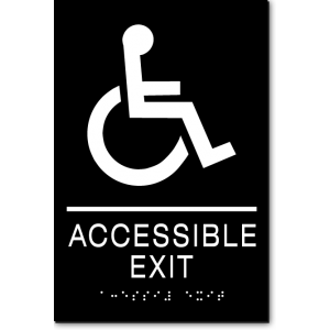 ACCESSIBLE EXIT Wheelchair Sign