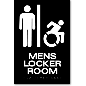 MENS LOCKER ROOM Speedy Wheelchair Sign - NY/CT