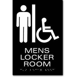 MENS LOCKER ROOM Sign