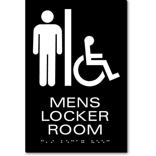 Mens Locker Room Sign Ada Sign Factory