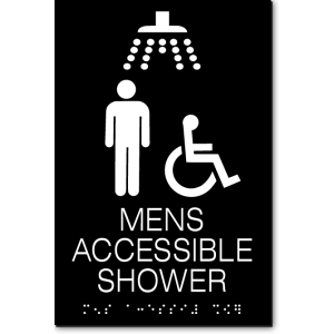 MENS ACCESSIBLE SHOWER Sign