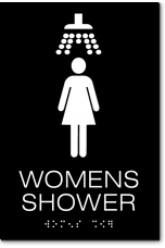 WOMENS SHOWER Sign
