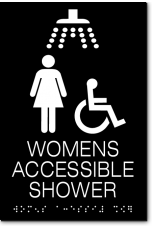WOMENS ACCESSIBLE SHOWER Sign