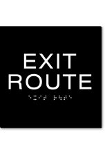 EXIT ROUTE Sign