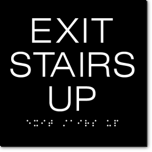 EXIT STAIRS UP Sign