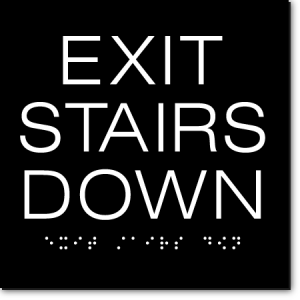 EXIT STAIRS DOWN Sign