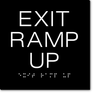 EXIT RAMP UP Sign