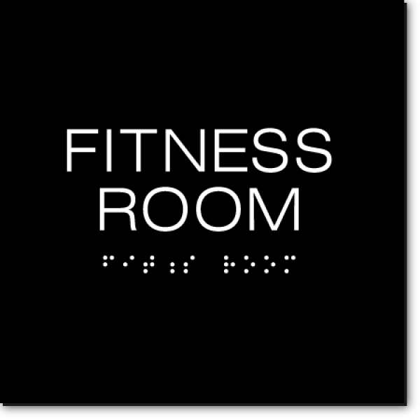 Fitness room sign ada factory