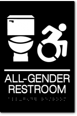ALL GENDER ACCESSIBLE RESTROOM Speedy Wheelchair Sign - NY/CT